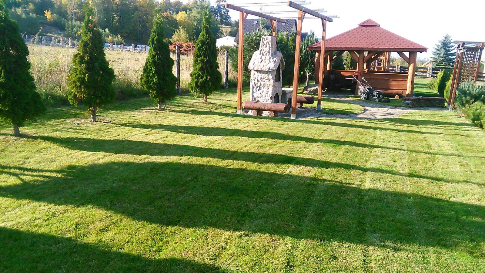 Wynajem domku blisko Karpacza - ogród, miejsce do wypoczynku
