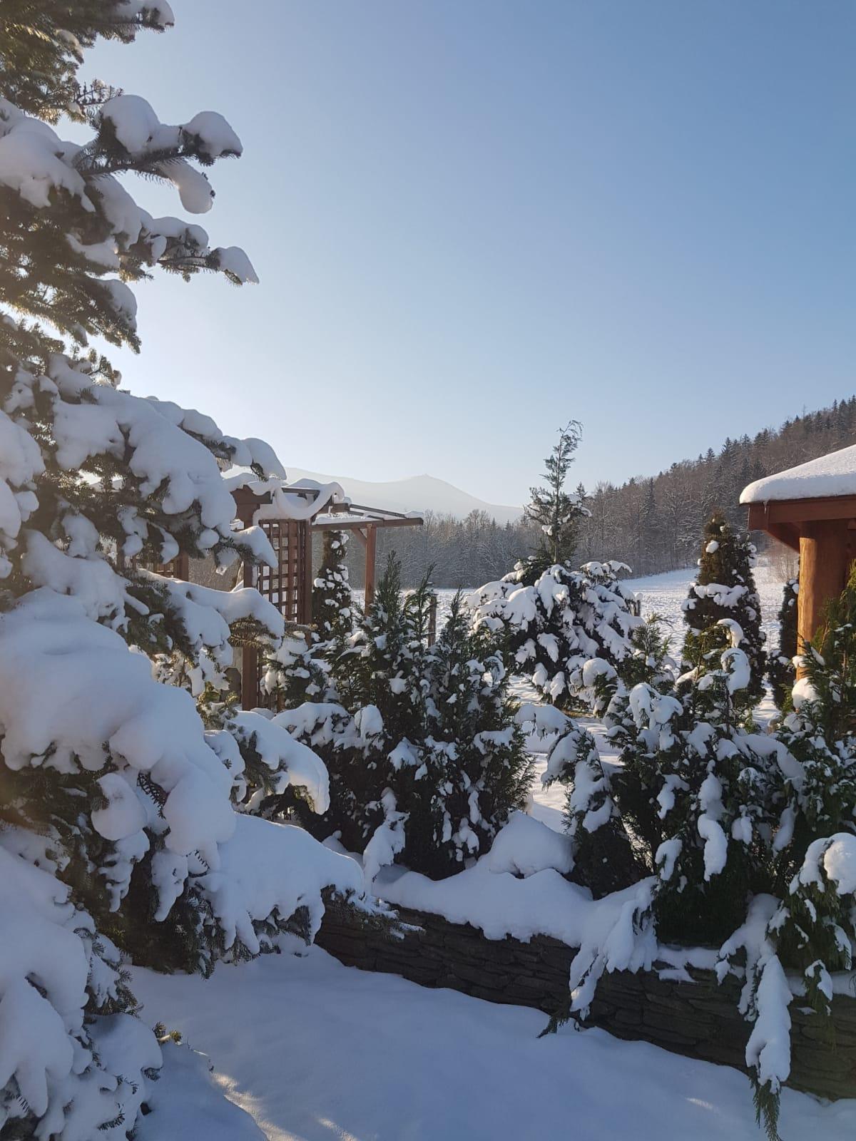 Wnajem domku Karkonosze - widok na Śnieżkę