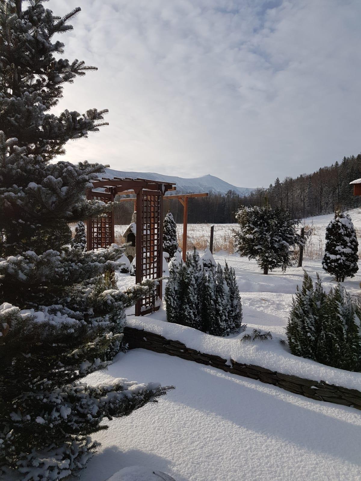 Wnajem domku Karpacz - Ściegny - widok na Śnieżkę, Karkonosze