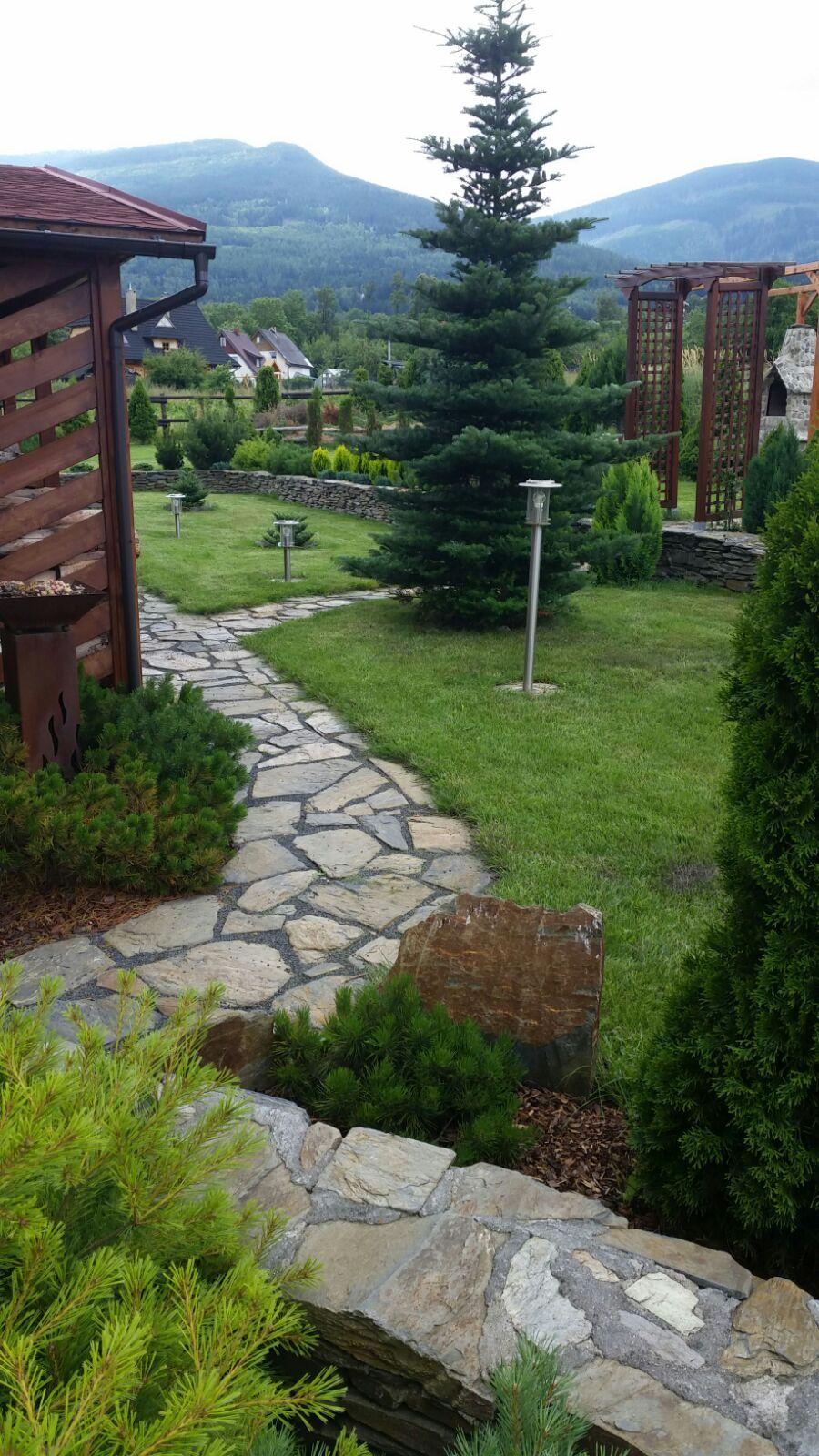 Wnajem domku Karpacz - Ściegny - ogród